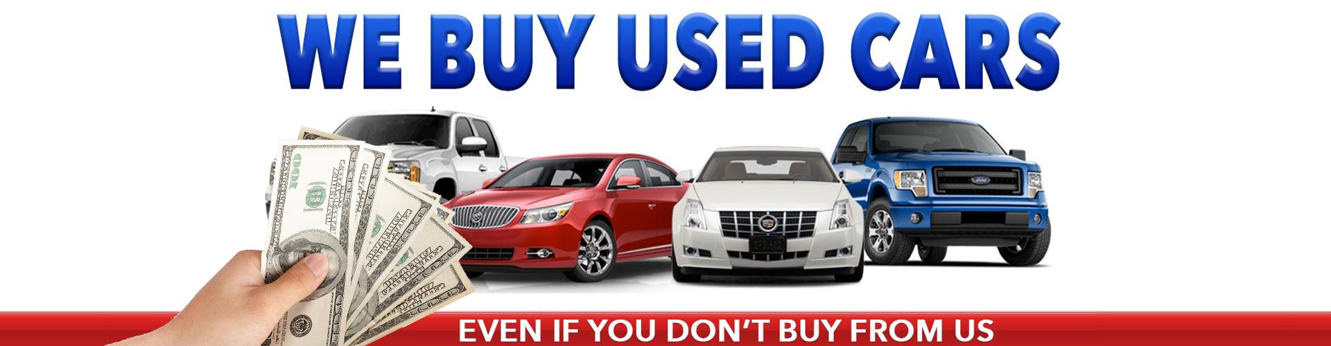 We buy used Cars